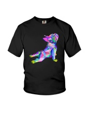 Yoga French Bulldog Shirt Youth T-Shirt thumbnail