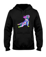 Yoga French Bulldog Shirt Hooded Sweatshirt thumbnail