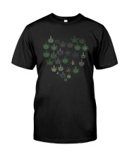 Heart Hippie Love Weed Shirt Classic T-Shirt front