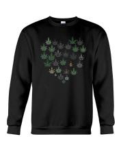 Heart Hippie Love Weed Shirt Crewneck Sweatshirt thumbnail
