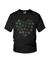 Heart Hippie Love Weed Shirt Youth T-Shirt thumbnail