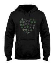 Heart Hippie Love Weed Shirt Hooded Sweatshirt thumbnail
