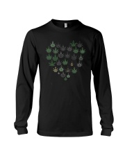 Heart Hippie Love Weed Shirt Long Sleeve Tee thumbnail