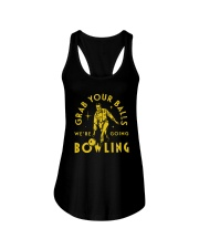 Grab Your Balls We're Going Bowling Shirt Ladies Flowy Tank thumbnail