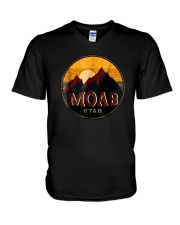 Sunset Mountain Moab Utah Shirt V-Neck T-Shirt thumbnail