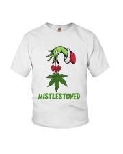 Grinch Hand Holding Weed Mistlestoned Shirt Youth T-Shirt thumbnail