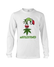 Grinch Hand Holding Weed Mistlestoned Shirt Long Sleeve Tee thumbnail