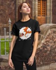 Christmas Gold Dragon Santa Claus Shirt Classic T-Shirt apparel-classic-tshirt-lifestyle-06