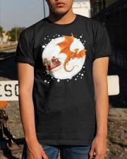 Christmas Gold Dragon Santa Claus Shirt Classic T-Shirt apparel-classic-tshirt-lifestyle-29