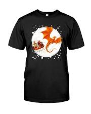 Christmas Gold Dragon Santa Claus Shirt Classic T-Shirt front