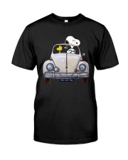 Snoopy And Woodstock Driving Volkswagen Shirt Premium Fit Mens Tee thumbnail