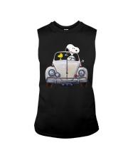 Snoopy And Woodstock Driving Volkswagen Shirt Sleeveless Tee thumbnail