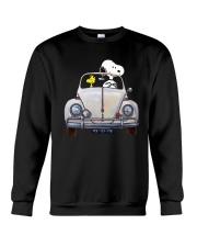 Snoopy And Woodstock Driving Volkswagen Shirt Crewneck Sweatshirt thumbnail