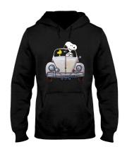 Snoopy And Woodstock Driving Volkswagen Shirt Hooded Sweatshirt thumbnail