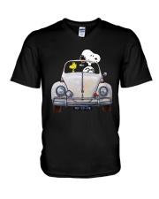 Snoopy And Woodstock Driving Volkswagen Shirt V-Neck T-Shirt thumbnail