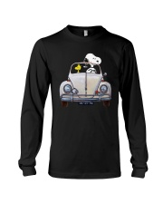 Snoopy And Woodstock Driving Volkswagen Shirt Long Sleeve Tee thumbnail