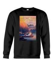 Kayak Dogs And She Lived Happily Ever After Shirt Crewneck Sweatshirt thumbnail