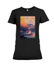 Kayak Dogs And She Lived Happily Ever After Shirt Premium Fit Ladies Tee thumbnail
