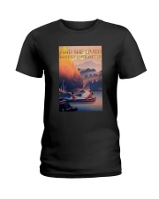 Kayak Dogs And She Lived Happily Ever After Shirt Ladies T-Shirt thumbnail
