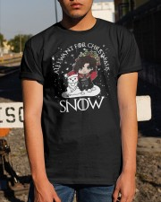 All I Want For Christmas Is Snow Shirt Classic T-Shirt apparel-classic-tshirt-lifestyle-29