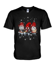 Christmas Quilting Three Gnomes Shirt V-Neck T-Shirt thumbnail