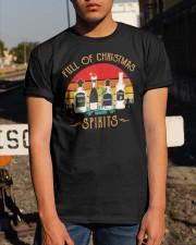 Vintage Wine Full Of Christmas Spirits Shirt Classic T-Shirt apparel-classic-tshirt-lifestyle-29