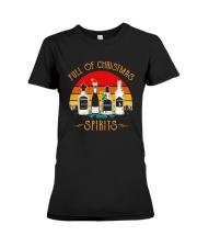 Vintage Wine Full Of Christmas Spirits Shirt Premium Fit Ladies Tee thumbnail