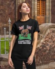 American Flag Strike First Sing Second Shirt Classic T-Shirt apparel-classic-tshirt-lifestyle-06