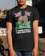 American Flag Strike First Sing Second Shirt Classic T-Shirt apparel-classic-tshirt-lifestyle-29
