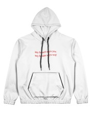 my heart says yes my brain says wtf Women's All Over Print Hoodie thumbnail