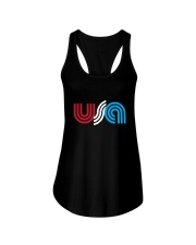 USA Ladies Flowy Tank front