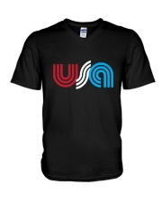 USA V-Neck T-Shirt thumbnail