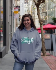 You Are Enough Hooded Sweatshirt lifestyle-unisex-hoodie-front-2