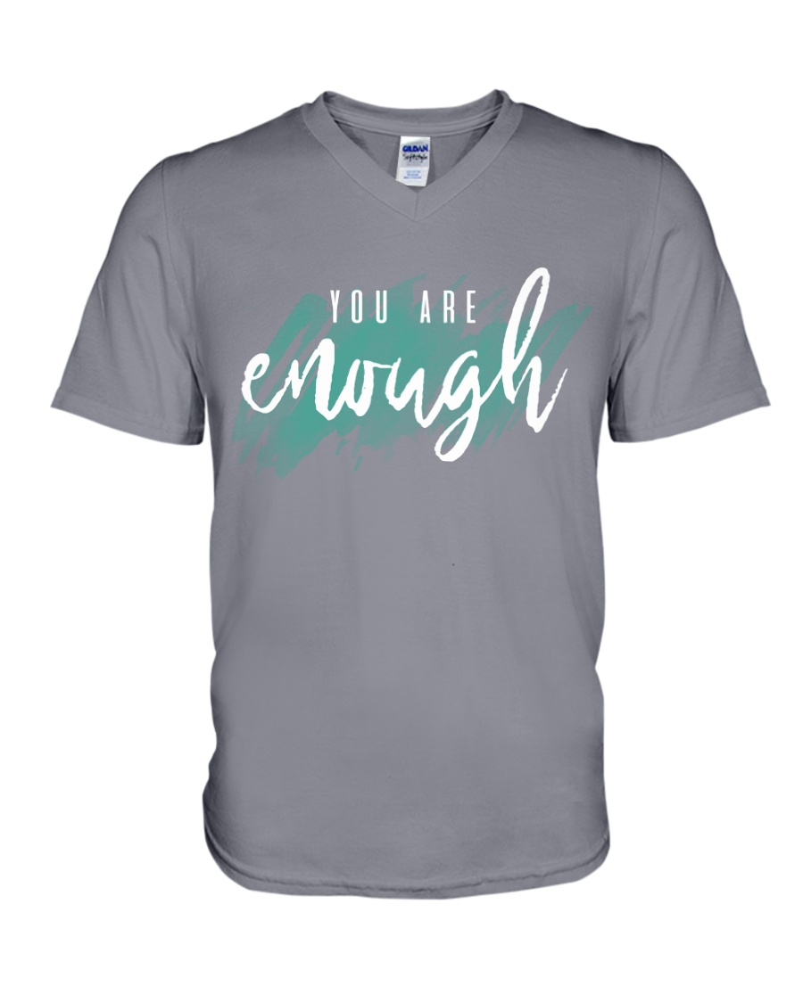 You Are Enough V-Neck T-Shirt showcase