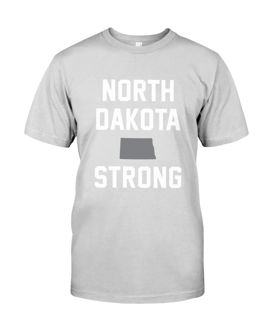 North Dakota Strong Premium Fit Mens Tee