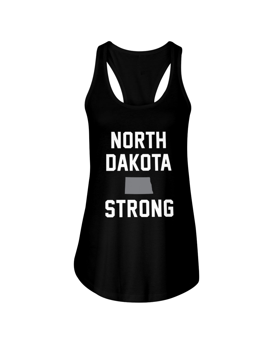 North Dakota Strong Ladies Flowy Tank
