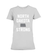North Dakota Strong Premium Fit Ladies Tee front