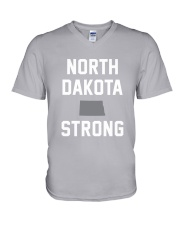 North Dakota Strong V-Neck T-Shirt front