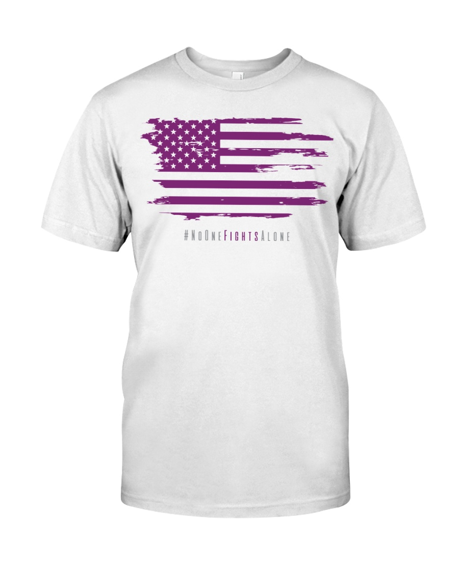 No One Fights Alone- Flag Premium Fit Mens Tee