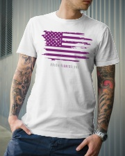 No One Fights Alone- Flag Premium Fit Mens Tee lifestyle-mens-crewneck-front-6
