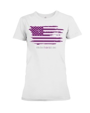 No One Fights Alone- Flag Premium Fit Ladies Tee thumbnail