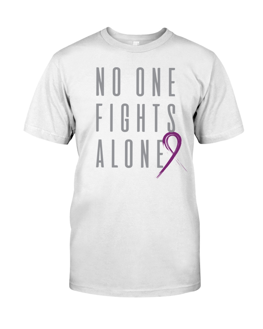 No One Fights Alone- Ribbon Premium Fit Mens Tee