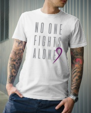 No One Fights Alone- Ribbon Premium Fit Mens Tee lifestyle-mens-crewneck-front-6