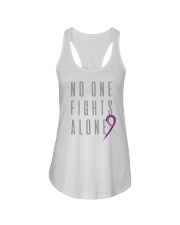 No One Fights Alone- Ribbon Ladies Flowy Tank thumbnail