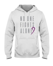 No One Fights Alone- Ribbon Hooded Sweatshirt thumbnail
