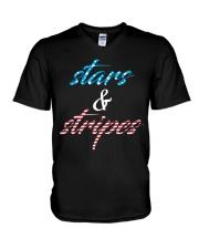Stars and Stripes V-Neck T-Shirt thumbnail