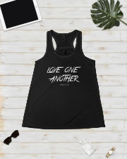 Love One Another Ladies Flowy Tank lifestyle-bellaflowy-tank-front-5