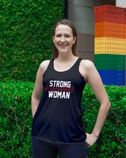 Strong Independent Woman Ladies Flowy Tank lifestyle-bellaflowy-tank-front-2