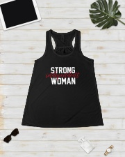 Strong Independent Woman Ladies Flowy Tank lifestyle-bellaflowy-tank-front-5