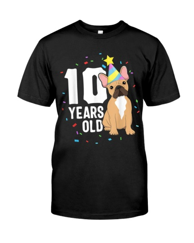 10 YEARS OLD BIRTHDAY OUTFIT FRENCH BULLDOG DOG PA